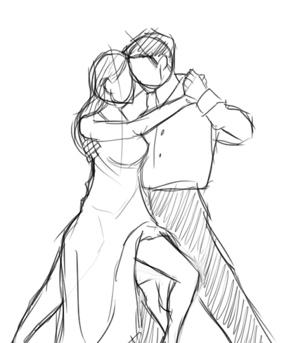 Gallery For gt Drawing Of Two People Dancing