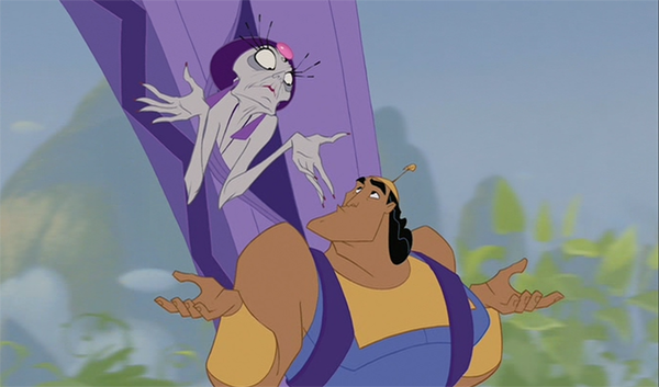 Emperor's New Groove animation shrug