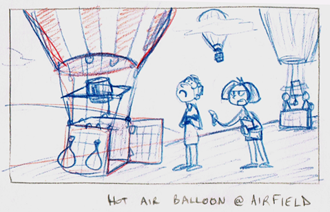 Set in a hot air balloon