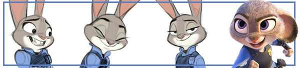 Animation and Drawing Exercise from Zootopia and Judy Hopps