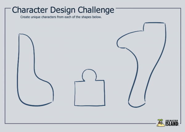 Character Design Shape Challenge : Character design practice shapes animator island