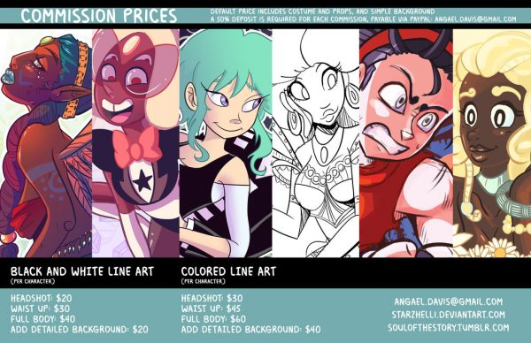 A well-crafted price chart for commissions by starZhelli