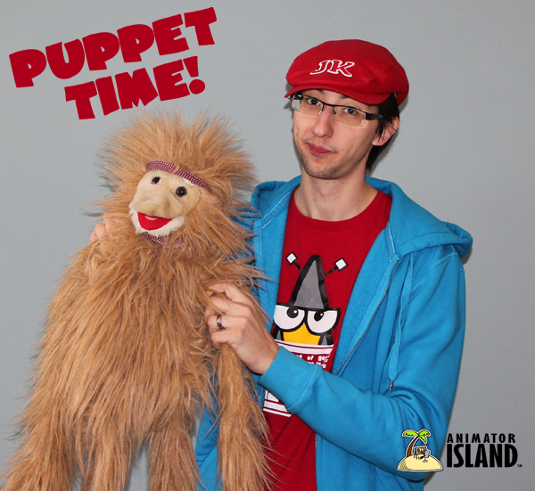 Puppet time at Animator Island!