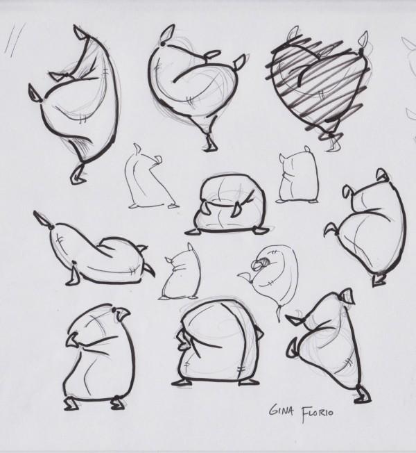 flour sack sketches