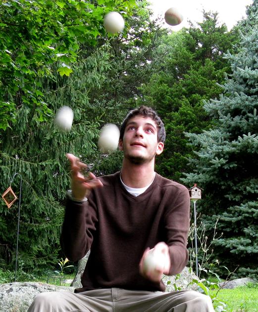 Juggling is tough