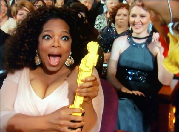 Oprah wins a Lego Oscar! Everything is Awesome!