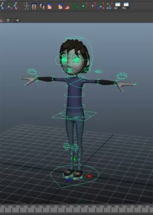 The Eleven Rig in T-pose from 11secondclub.com right after being imported