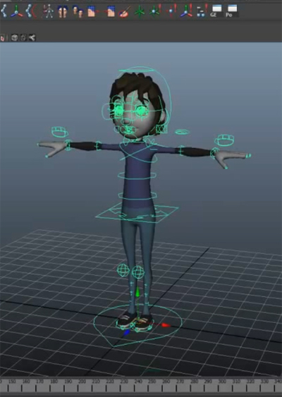 The t pose all about this mighty blueprint animator island the eleven rig in t pose from 11secondclub right after being imported malvernweather Image collections
