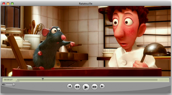 Animation shown in Quicktime