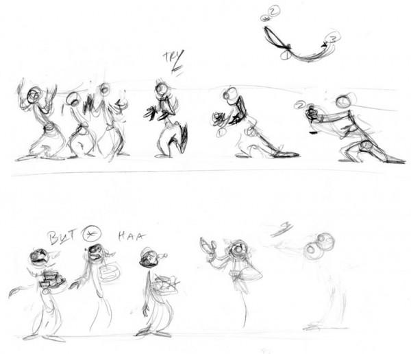 Thumbnails from animator BJ Crawford