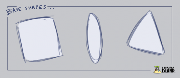 Base Shapes for Character Design Challenge