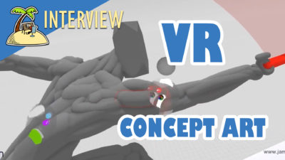 2D and 3D Concept Art in VR? Interview with Jama Jurabaev